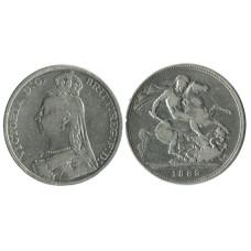 1 крона Англии 1889 г., Королева Виктория (2)