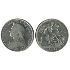 1 крона Англии 1894 г., Королева Виктория