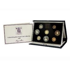Набор из 8-ми монет и жетона Великобритании 1983 г.(в подарочном футляре)