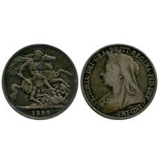 1 крона Англии 1899 г., Королева Виктория