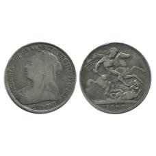 1 крона Англии 1897 г., Королева Виктория
