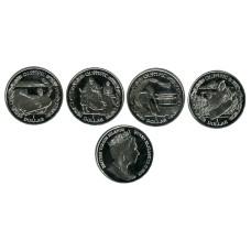 Набор из 4-х монет Британских Виргинских островов 2019 г.,Летние Олимпийские игры в Токио