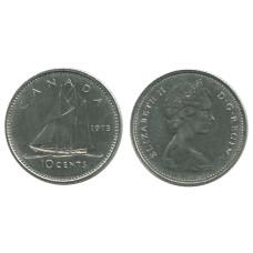 10 центов Канады 1973 г., Парусник