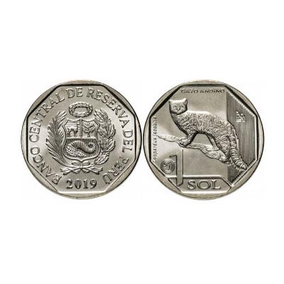 Монета 1 соль Перу 2019 г. Андская кошка