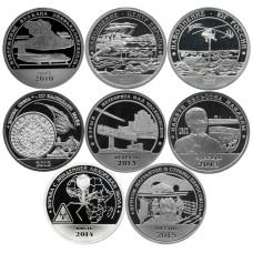 Набор  разменных знаков Арктикугля, 8 монет номиналом 10 разменных знаков 2010-2015 гг.