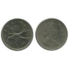 25 центов Канады 1975 г., Олень