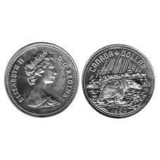1 доллар Канады 1980 г.,Полярный медведь