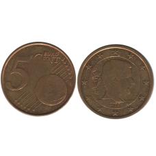 5 евроцентов Бельгии 2017 г.