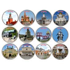 Набор монет 5 рублей , Виды Москвы