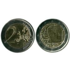 2 евро Финляндии 2020 г. 100 лет со дня рождения Вяйне Линна