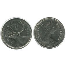 25 центов Канады 1986 г., Олень