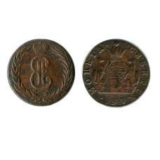 Сибирская монета 2 копейки 1769 (КМ)