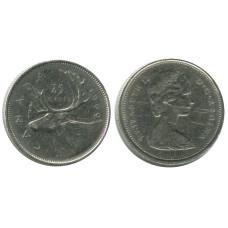 25 центов Канады 1969 г., Олень