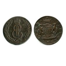 Сибирская монета 5 копеек 1776 (КМ)
