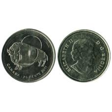 25 центов Канады 2011 г., Бизон