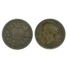 5 центов Канады 1883 г. экз. 2