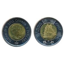 "2 доллара Канады 2012 г. Фрегат ""Шеннон"""