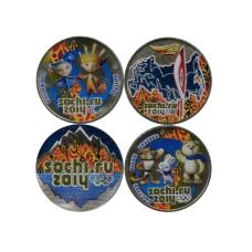 Набор из 4-х монет, Сочи - 2014 (год чеканки 2014) лёд и пламя