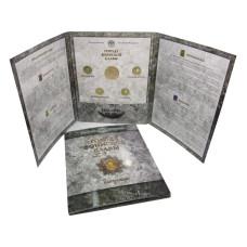 Набор монет и жетон России, ГВС VI выпуск (СПМД)