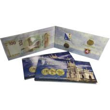 Набор монет 2014 г. с банкнотой , Вхождение в состав РФ Крыма и г. Севастополь (в буклете)