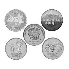 Набор из 4-х монет, Сочи - 2014 (год чеканки 2014)