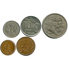 Набор из 5 монет Австралии