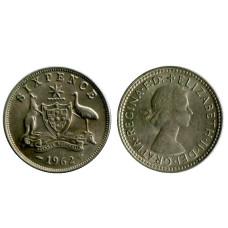6 пенсов Австралии 1962 г.