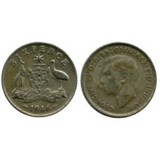6 пенсов Австралии 1946 г.
