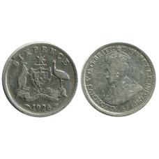 6 пенсов Австралии 1926 г.