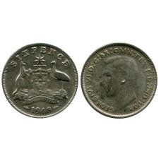 6 пенсов Австралии 1948 г.