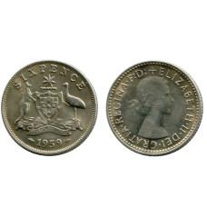 6 пенсов Австралии 1959 г.