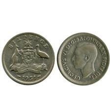 6 пенсов Австралии 1951 г.