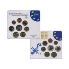 Набор из 8-ми евро монет Германии 2003 г. (в блистере, A)