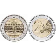 2 евро Германии 2020 г. Дворец Сан-Суси в Потсдаме (G)