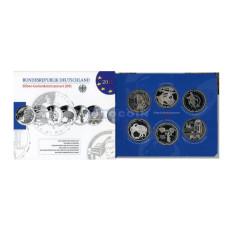 Набор из 6-ти евро монет Германии 2011 г.