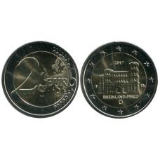 2 евро Германии 2017 г., Порта Нигра, Рейнланд-Пфальц (F)