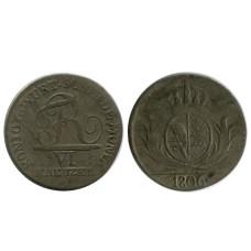 6 крейцеров Вюртенберга 1806 г. (РМ)
