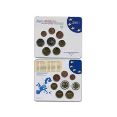 Набор из 8-ми евро монет Германии 2004 г.