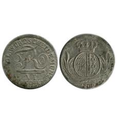 6 крейцеров Вюртенберга 1809 г. (РМ)