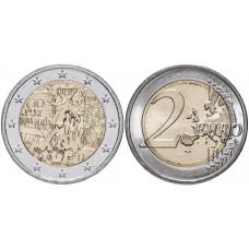 2 евро Германии 2019 г. 30 лет падению Берлинской стены (A)