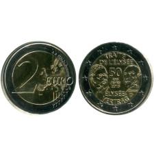 2 евро Германии 2013 г., 50 лет подписания Елисейского договора (D)