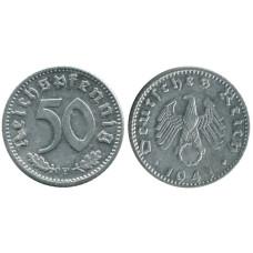 50 рейхспфеннигов Германии 1941 г. F