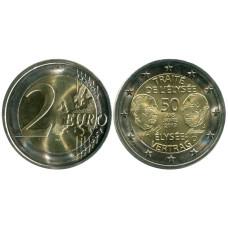 2 евро Германии 2013 г., 50 лет подписания Елисейского договора (J)