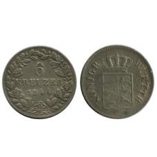 6 крейцеров Пруссии 1844 г. (РМ)