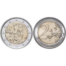 2 евро Германии 2019 г. 30 лет падению Берлинской стены (F)