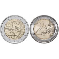 2 евро Германии 2019 г. 30 лет падению Берлинской стены (G)