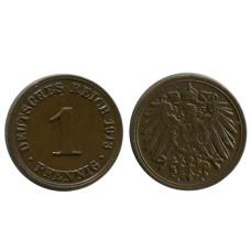 1 пфенниг Германии 1913 г. (A)