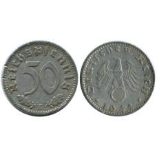 50 рейхспфеннигов Германии 1942 г. E