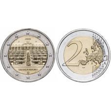 2 евро Германии 2020 г. Дворец Сан-Суси в Потсдаме (J)