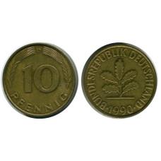 10 пфеннигов Германии 1990 г. (D)